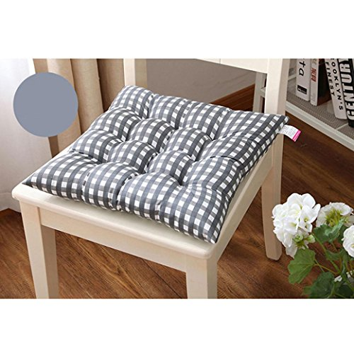 Iuhan Fashion Indoor Home Kitchen Office Chair Pads Seat Pads Cushion (Gray)