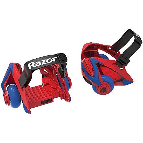 Razor SPIDER-MAN Jetts Sparking Heel Wheels,Multicolors with Spiderman design,12