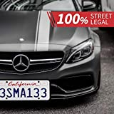 Aujen 2 Pack Silicone License Plate Frame, 2 PCS