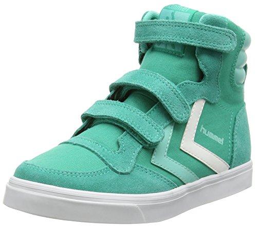 hummel STADIL CANVAS JR HI, Unisex-Kinder Hohe Sneakers, Grün (Vivid Green 6593), 36 EU