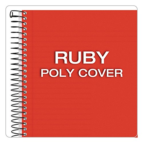 TOPS Classified Business Notebook, 5.5 x 8.5-Inch, College Rule, 100 Sheets per Book, Ruby Plastic Cover (73505) by Tops (Image #4)