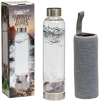 Amazon.com: Elixir2Go Botella de Elixir de cristal – Botella ...