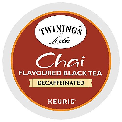 Twinings Chai DECAFFEINATED K-Cups for Keurig Brewers 48 Count (K Cup Teas Rooibos Keurig)