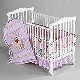 4 Piece Disney Baby Winnie the Pooh Flower Friends Crib Bedding Set