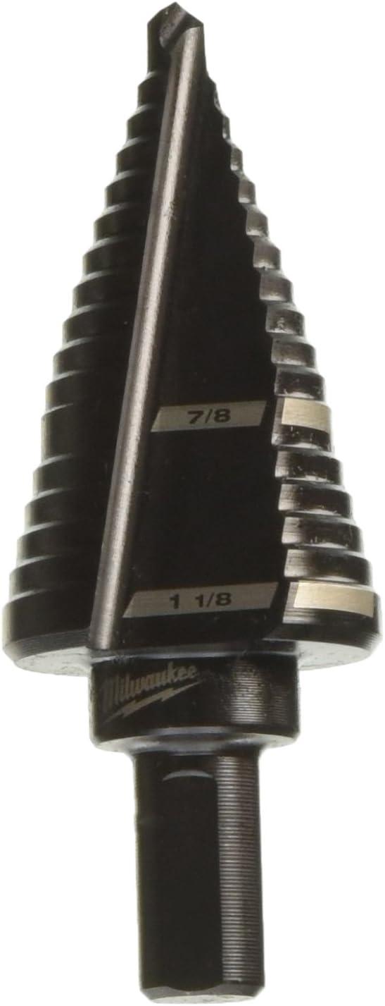 Milwaukee 48-89-9209 - Broca escalonada de 7/8 pulgadas a 1-1/8 pulgadas