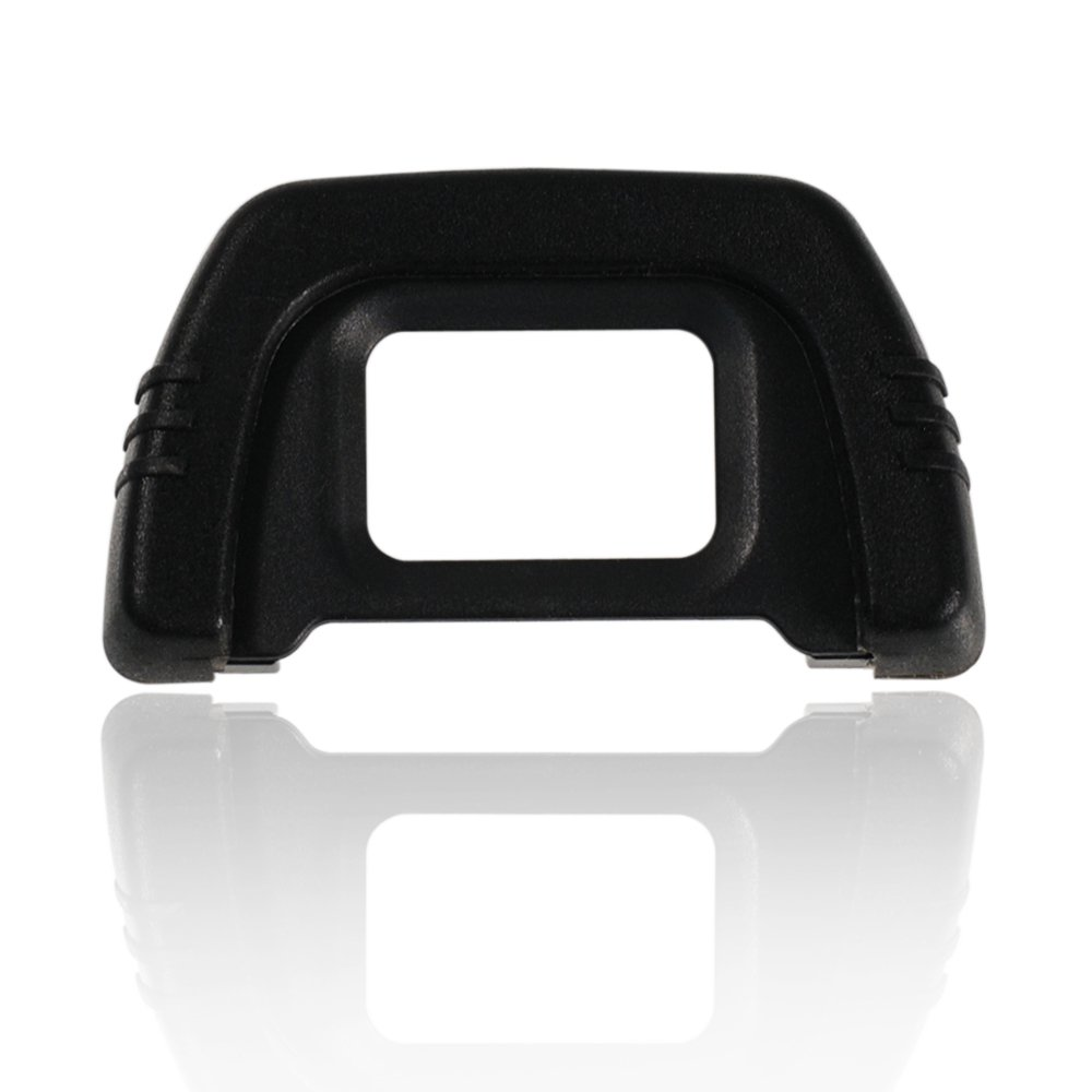 Foto&Tech Replacement Rubber DK-21 Eyecup for Nikon D750, D7000, D600, D300, D80, D90, D200, D40 Digital SLR Cameras (1 PC, Black) FotoTech DK21 EP