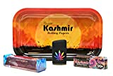 Bundle-7 Items - Kashmir 1 1/4 Supreme, Torch Lighter, 110 Roller and Rolling Papers Depot Rolling Tray (N3)