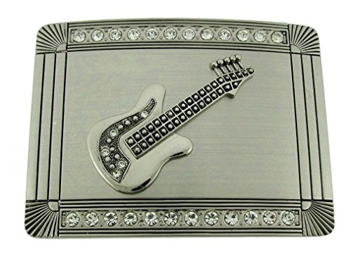 New Big Guitar Rhinestone Belt Buckle Metal Goth Tribal Tattoo Gothic (Closeout)