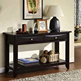 Decorative Contemporary Modern Traditional Transitional Brown Two-drawer Sofa Table