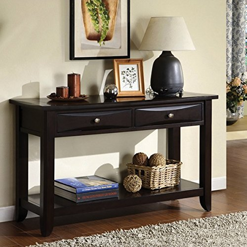 Decorative Contemporary Modern Traditional Transitional Brown Two-drawer Sofa Table Review
