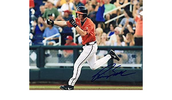 Autographed College Photos Pavin Smith D-backs Virginia Signed Autographed 8x10 Photo W//Coa
