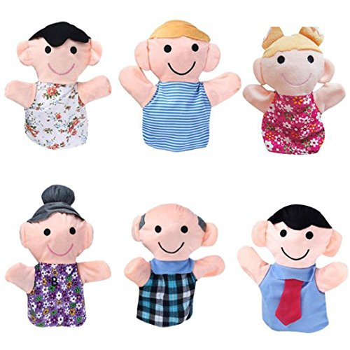 Finger Puppet,Elevin(TM) 6PC 18CM Baby Infant Kids Home Family Finger Infant Kid Toy Plush Toys Christmas Gift
