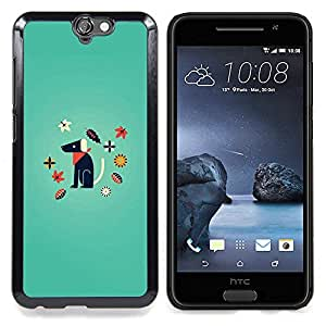 Minimalist Dog Puppy Cartoon Caja protectora de pl??stico duro Dise?¡Àado King Case For HTC ONE A9