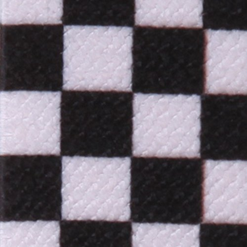 HDE Men's Checkered Suspenders 1 Inch Wide Y-Back Adjustable Elastic Shoulder Strap (Black and White) by HDE (Image #1)