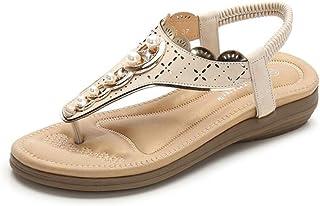 XL_nsxiezi Perle runde Kopf Schuhe Sandalen