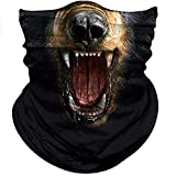 Obacle Animal Half Face Mask Sun Dust Wind Protection Durable Breathable Seamless Face Mask Bandana for Men Women, Lightweight Thin Neck Gaiter for Outdoor Sports Gifts Many Patterns