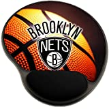 Nets Basketball Mousepad Base with Wrist Support Mouse Pad Great Gift Idea Brooklyn