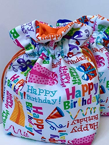 Amazon Com Birthday Party Gift Bag Handmade Gift Wrap Fabric