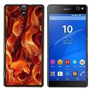 EJOOY---Cubierta de la caja de protección para la piel dura ** Sony Xperia C5 Ultra ** --tocino carne de cerdo dorar los alimentos crujientes