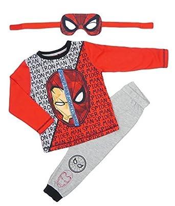 c8ee88486c115 Marvel Iron Man Spider-Man Robe De Soirée Pyjama Réversible Masque Visage 2-3  to 8-9 - Multicolore