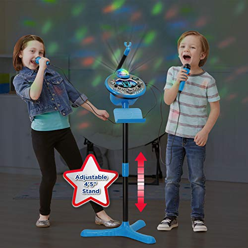 VTech Kidi Star Karaoke System 2 Mics with Mic Stand & AC Adapter, Blue by VTech (Image #5)