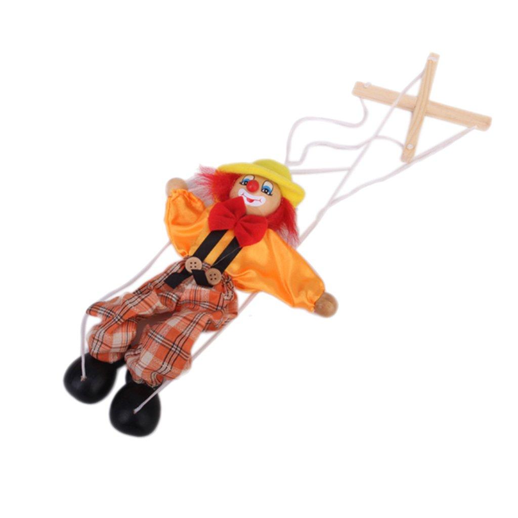 1pc Marionnette à Fils Clown Jouet pour Enfant - Couleur Aléatoire