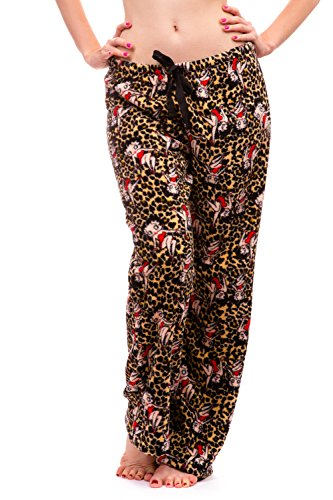 arm and Cozy Plush Pajama Bottoms (Small, Leopard) ()