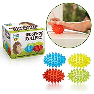 Pick A Toy Sensory Spiky Rollers Set: 4-Pack Egg-Shaped Stress Relief Toys in Gift Box| Eco- Friendly BPA/Latex-Free Fidget Toy to Boost Focus in Kids & Adults| Great Gifting Idea Tactile Toy