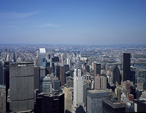 New York, NY Photo - Aerial view of New York City, with the Chrysler Building in the foreground - Carol Highsmith