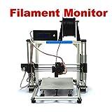 "HICTOP Filament Monitor Desktop 3D Printer Prusa I3 DIY Kits 10.6"" x 8.3"" x 7.7"" Printing Size (White)"