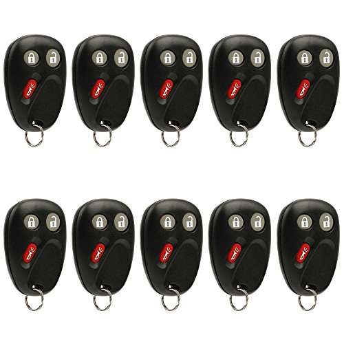 Car Key Fob Keyless Entry Remote fits 2003-2006 Chevy, GMC, Cadillac, Hummer, Pontiac, Saturn (LHJ011), Bulk Lot of 10