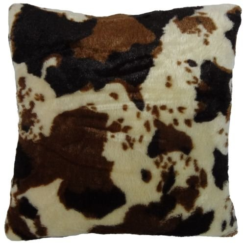 Cow Pattern (The Pecan Man Cow Animal Pattern Faux Fur Decorative Throw Pillow Cover Case Cushion Cover Bed Accent Decorative Designer Home Decorator 16.5