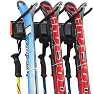 Homeon Wheels Ski Wall Storage Rack, Tools Storage Rack Wall Mount for Garage or Apartment, for Cross Country
