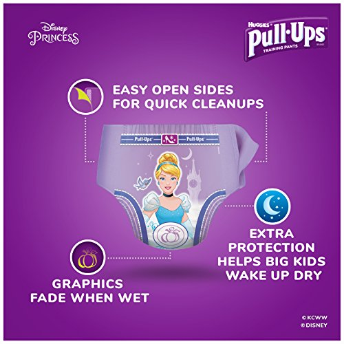 Pull-Ups Night-Time Potty Training Pants for Girls, 3T-4T (32-40 lb.), 20 Ct. (Packaging May Vary) (Pack of 4) by Huggies (Image #2)