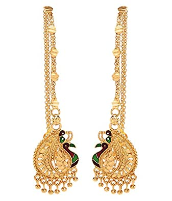 Buy GoldNera South Indian Style Mayur Designed Gold Plated Kaan