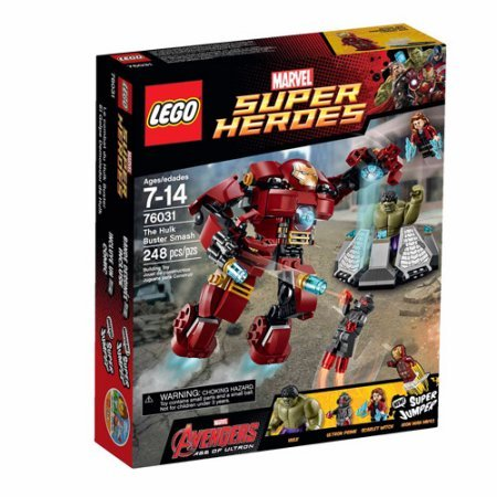 LEGO Super Heroes The Hulk Buster Smash, Set Includes 3 Minifigures With Assorted Weapons And Accessories