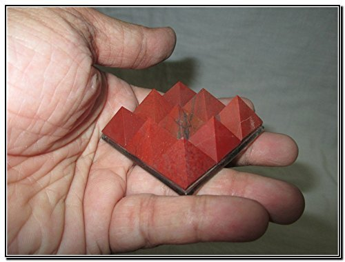 Lovely Red Jasper 9 Pyramid Plate A++ Chakra Power Protection Vastu Healing Feng Shui Energy Gift Success Progress Health Wealth Prosperity Good Luck Divine Vastu Defect Business Gift Christmas Good Friday Birthday Surprise Occasion India Asia Sacred Mantra Prosperity Security Safety Children Adults Old Age Disorder Stress Relief Disease Resistant Bonding Relationship Aim Ambition Aspiration Students Exam Result Goal Oriented Memory Concentration Relaxation (Plate Jasper Christmas)