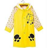 SILVERFEVER Rain Coat Kids Cartoon Characters Thick Raincoat Rain Poncho for Girls Boys with School Bag Cover
