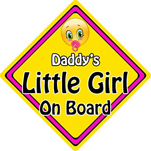 Non Personalised Child//Baby On Board Emoji Car Sign ~ Daddys Little Girl