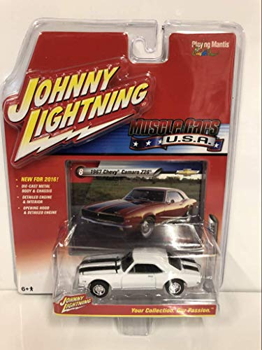 Johnny Lightning 2016 Muscle Cars USA 1967 Chevy Camaro Z28 White #8