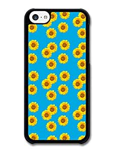 MMZ DIY PHONE CASECool Hipster Sun Flower Pattern Fashion Design case for ipod touch 4