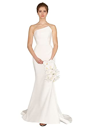 Peacock Princess Elegant Strapless Mermaid Wedding Dress Ivory or white