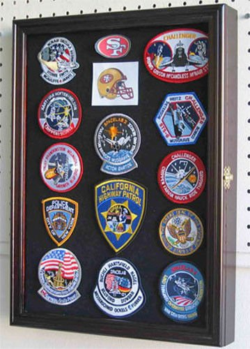 Scout Patches Badges Display Case Cabinet Shadow Box by Display Case