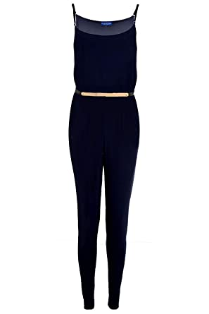 Mujer Todo en Uno Estilo Celebrity Pantalones Dorado Mono ...
