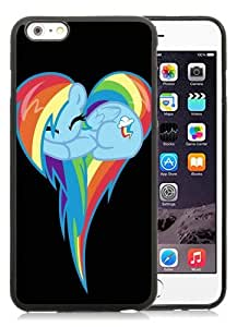 Hot Sale iPhone 6 Plus TPU Screen Case ,My Little Pony Hearts Rainbow Dash Black iPhone 6 Plus 5.5 Inch TPU Unique And Popular Designed Phone Case