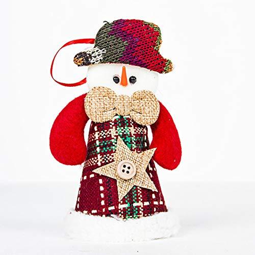 1pc Christmas Reindeer/Snowman/Santa Claus Red Wine Bottle Cover Bags Clothes Bottle Cap Table Decoration for Party (Color : Snowman)