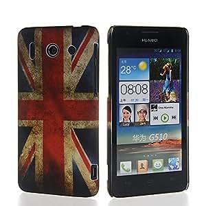 GUANHAO UK British Flag Pattern Hard Rubber Coating Back Case Cover For Huawei Ascend G510 U8951D