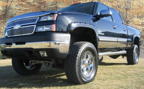 "Stainless Steel 6/"" Rocker Panel W//Flares 10PC Chevy Silverado REG Cab LB 99-06"