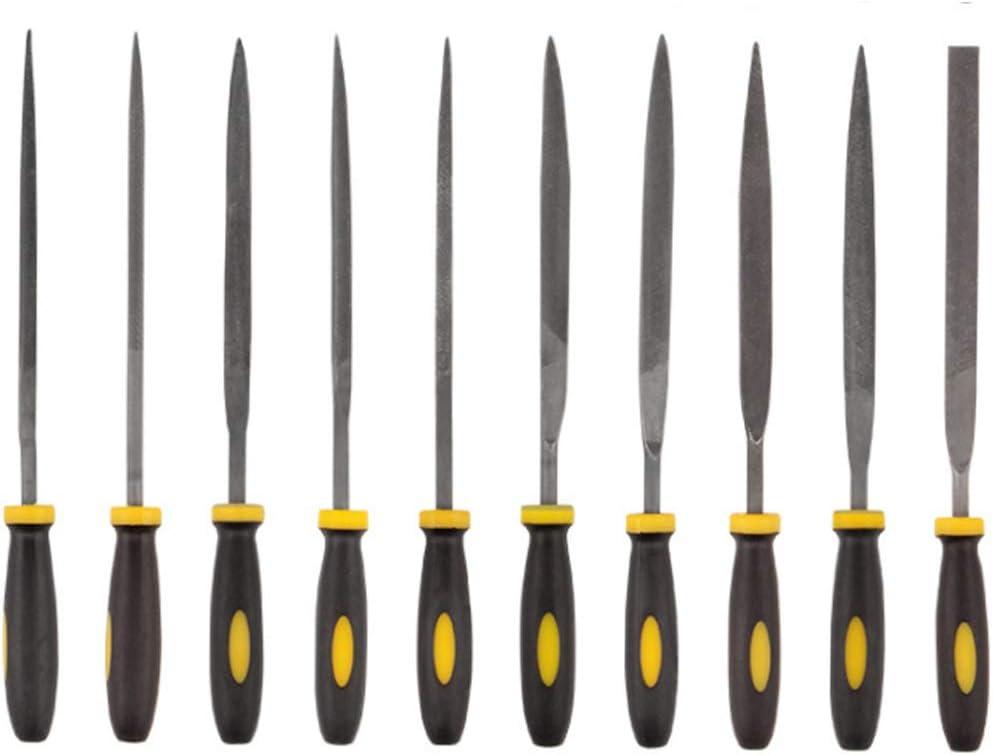 Juego de limas surtidas de agujas de acero de escofina de madera,herramientas de escofinas y escofinas con mango de goma y variedad de formas y tama/ños para artesan/ía de tallado de madera