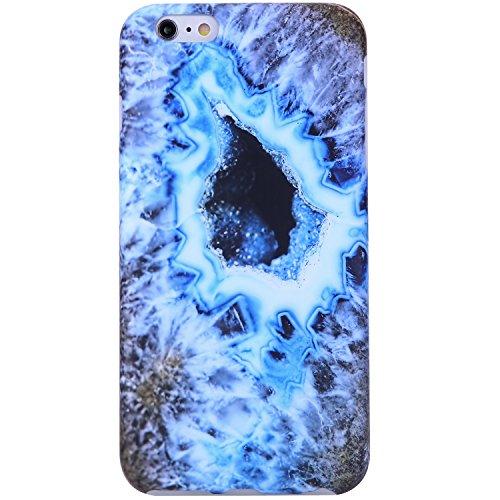 iPhone 6 Case, iPhone 6s Case,VIVIBIN Cute Agate Blue Gold Women Girls Clear Bumper Best Protective Soft Silicone Rubber Glossy TPU Cover Slim Fit Best Phone Case iPhone 6/iPhone 6s